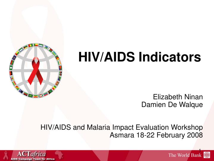 Hiv aids indicators