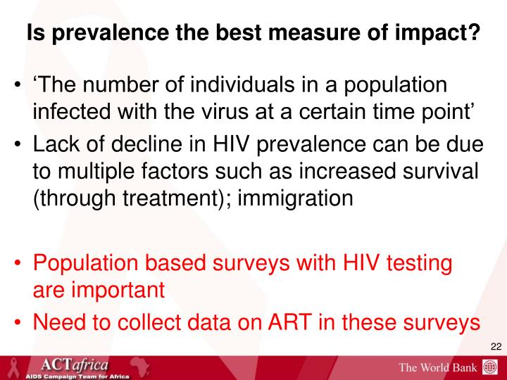 Is prevalence the best measure of impact?