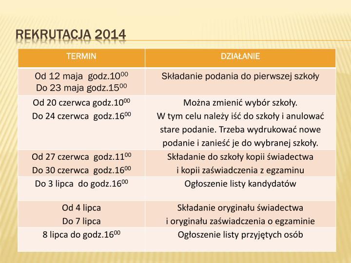 Rekrutacja 20142