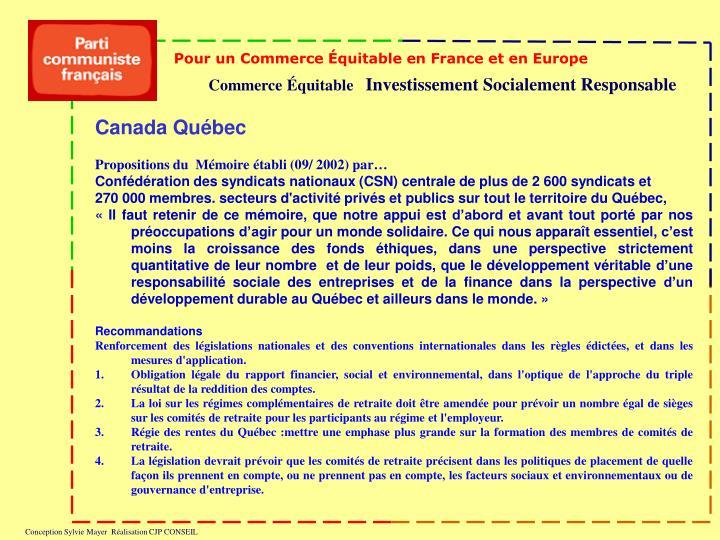 Pour un Commerce Équitable en France et en Europe