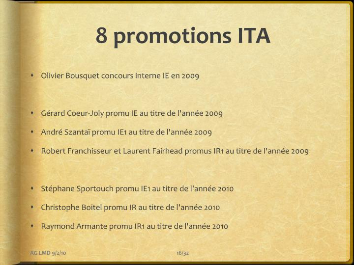 8 promotions ITA