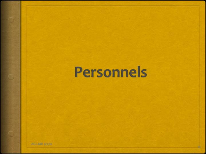 Personnels