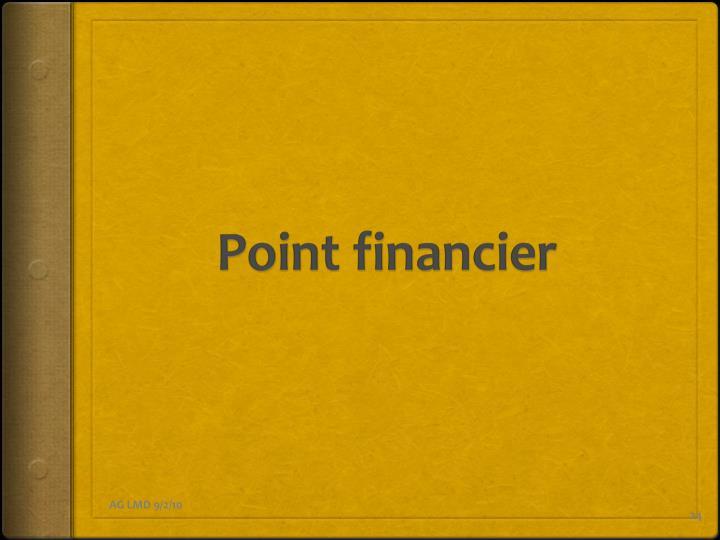 Point financier