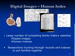 digital images human index