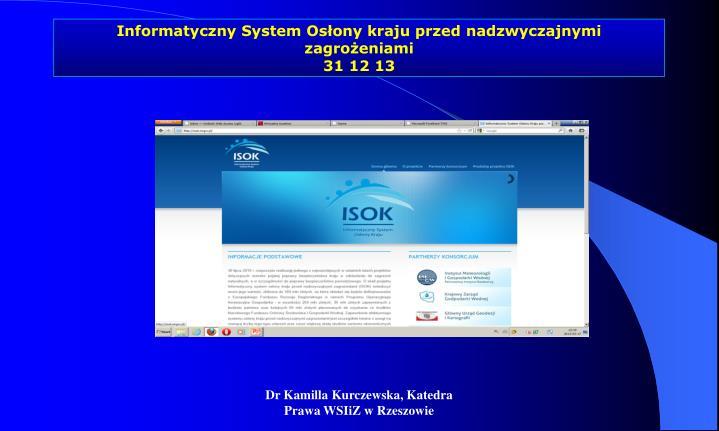 Informatyczny System Osłony kraju przed nadzwyczajnymi zagrożeniami