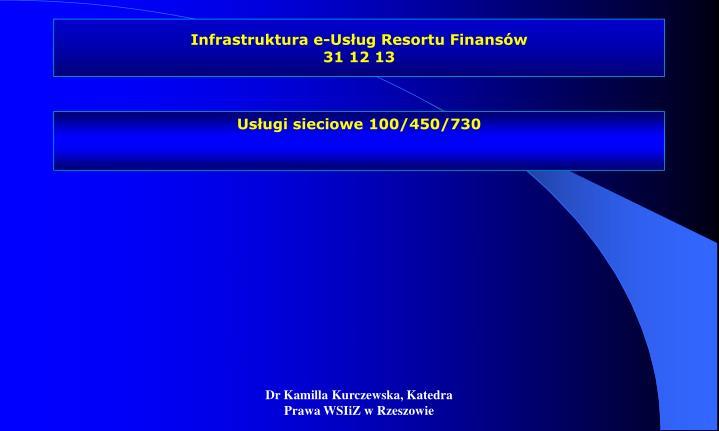 Infrastruktura e-Usług Resortu Finansów