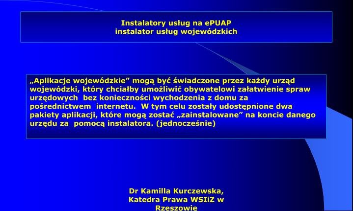 Instalatory usług na ePUAP