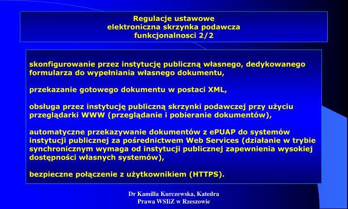 Regulacje ustawowe