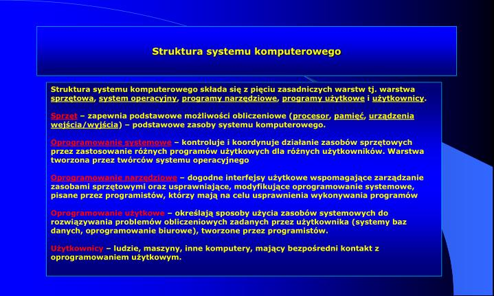 Struktura systemu komputerowego