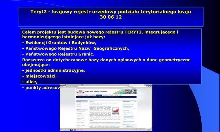 Teryt2 - krajowy rejestr urzędowy podziału terytorialnego kraju