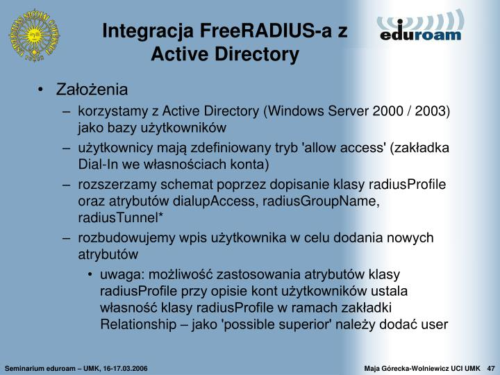 Integracja FreeRADIUS-a z Active Directory