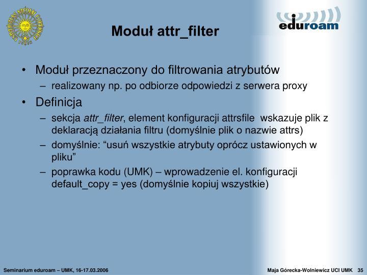Moduł attr_filter