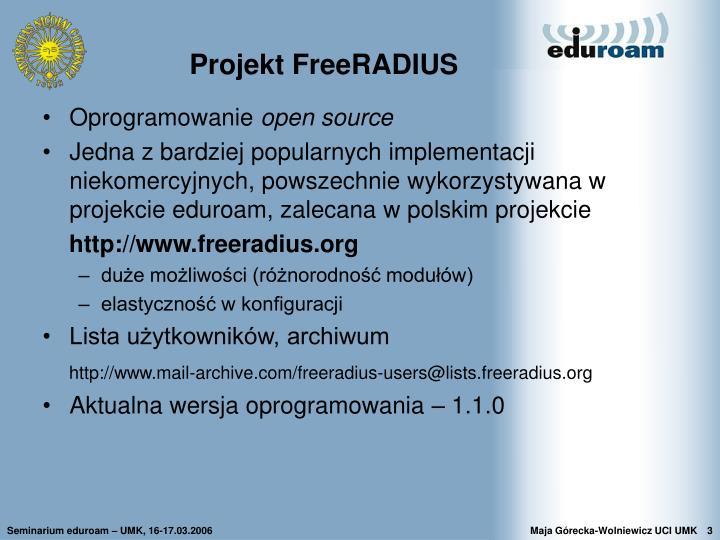Projekt freeradius