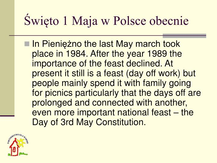 Święto 1 Maja w Polsce obecnie