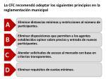 la cfc recomend adoptar los siguientes principios en la reglamentaci n municipal