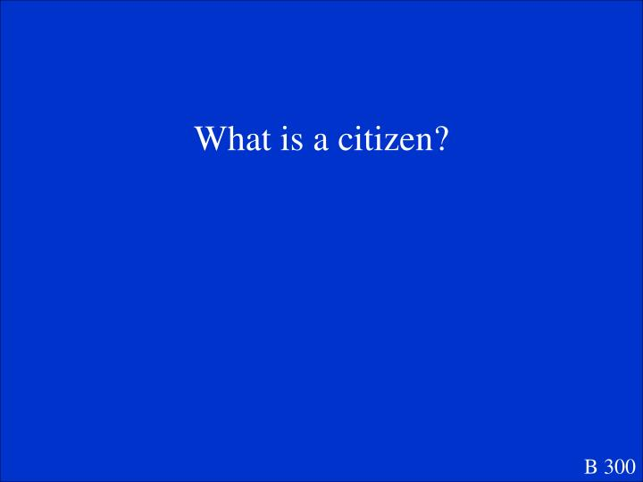 What is a citizen?