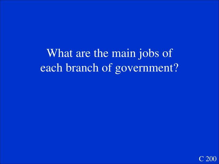 What are the main jobs of eac