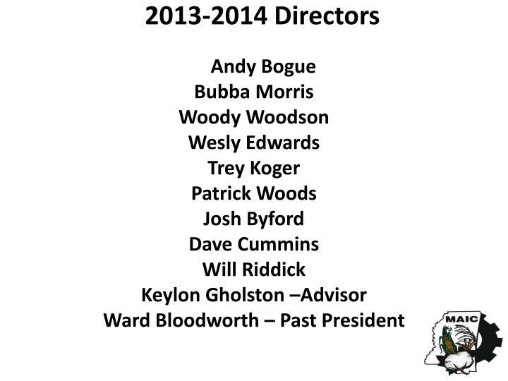 2013-2014 Directors