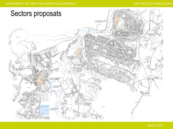 Sectors proposats