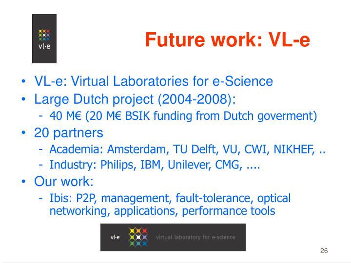 Future work: VL-e
