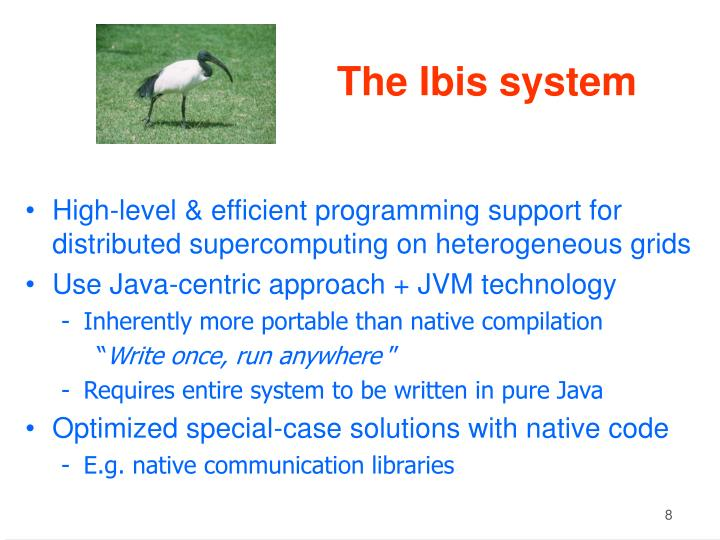 The Ibis system
