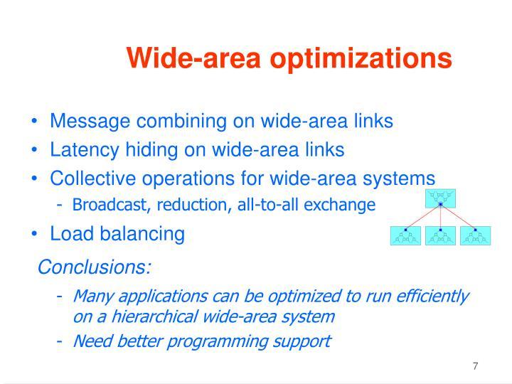 Wide-area optimizations