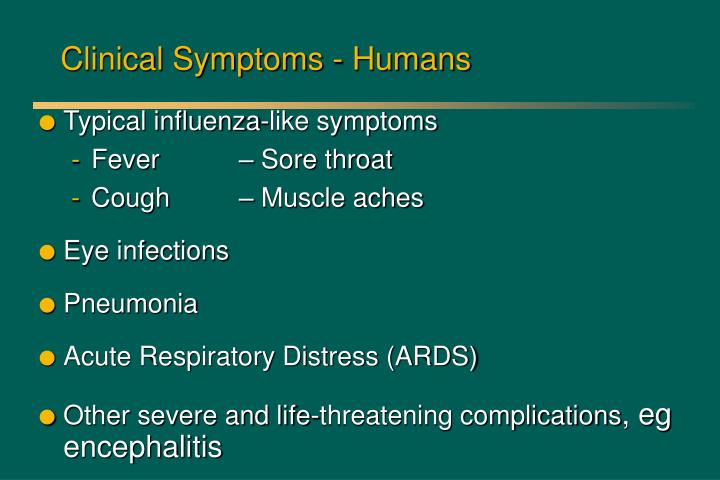 Clinical Symptoms - Humans