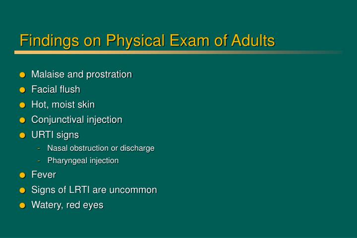 Findings on Physical Exam of Adults