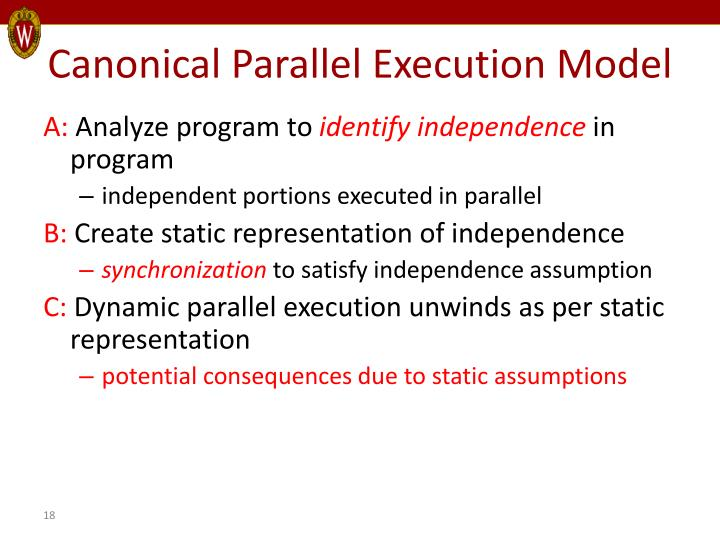Canonical Parallel Execution Model