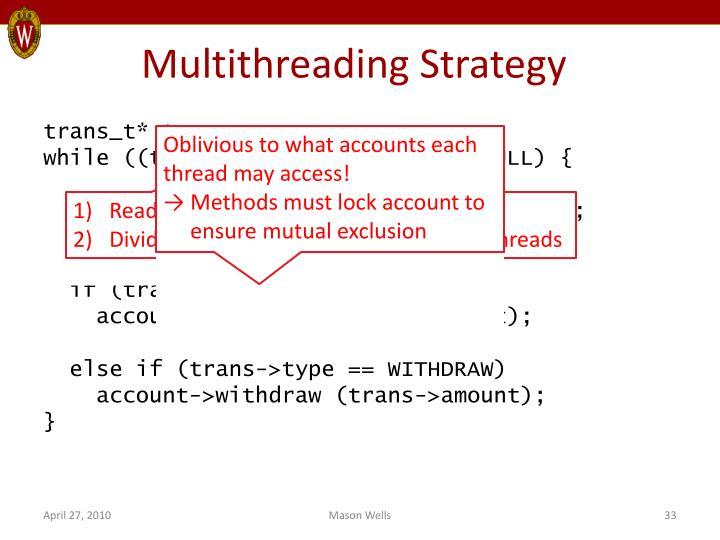 Multithreading Strategy