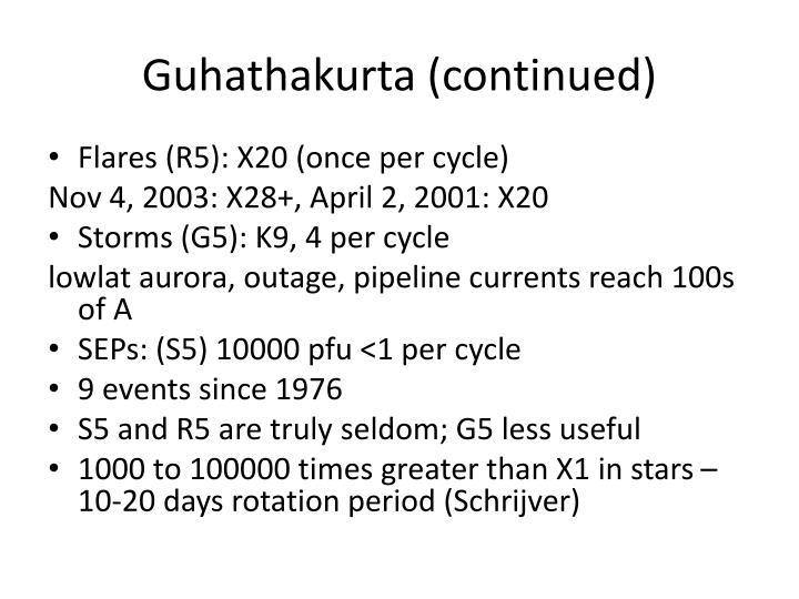 Guhathakurta (continued)
