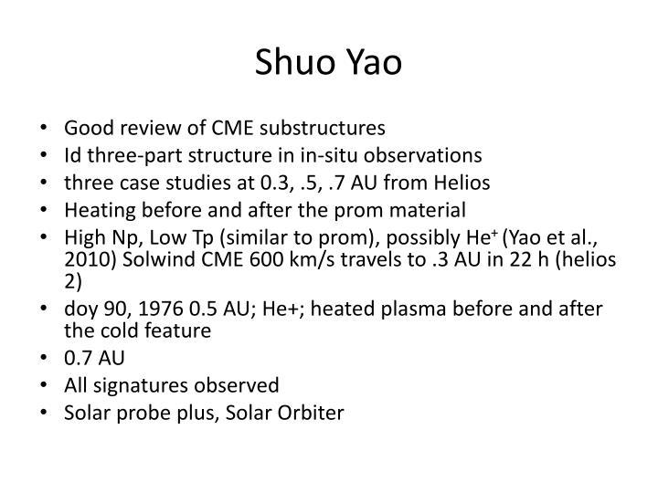Shuo Yao