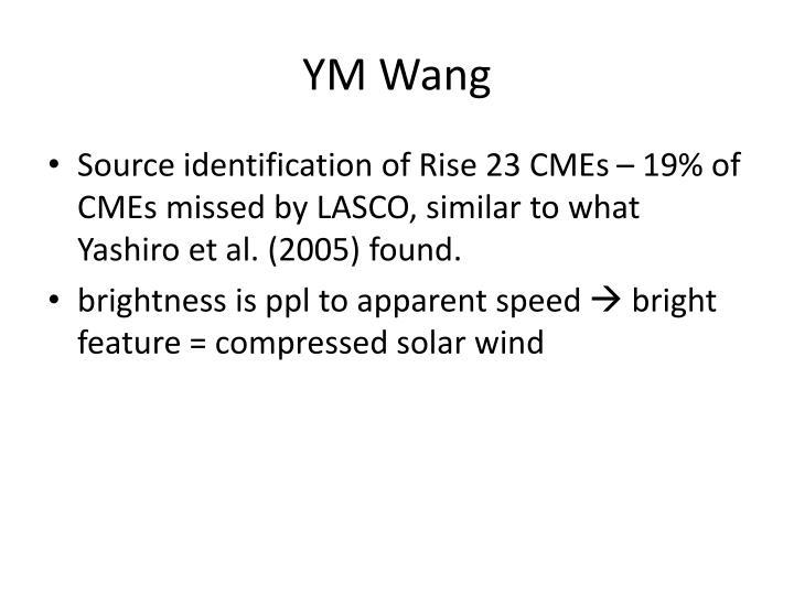 YM Wang