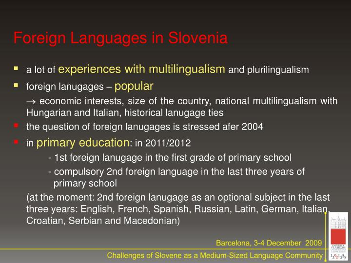 Foreign Languages in Slovenia