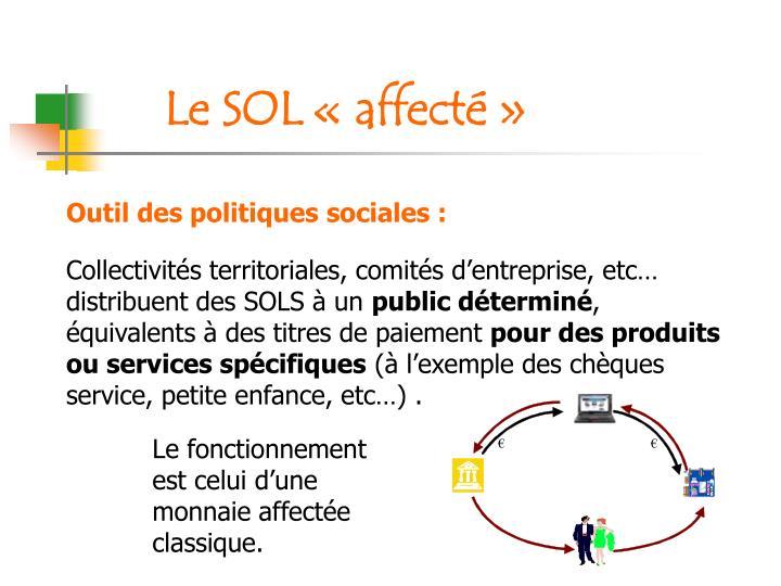 Outil des politiques sociales :