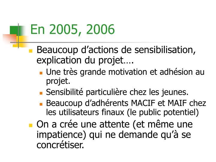 En 2005, 2006