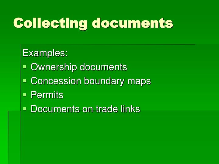 Collecting documents