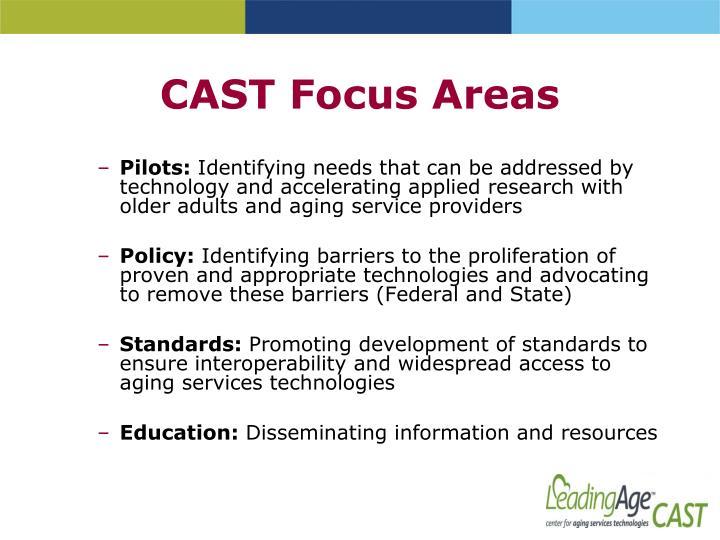 CAST Focus Areas