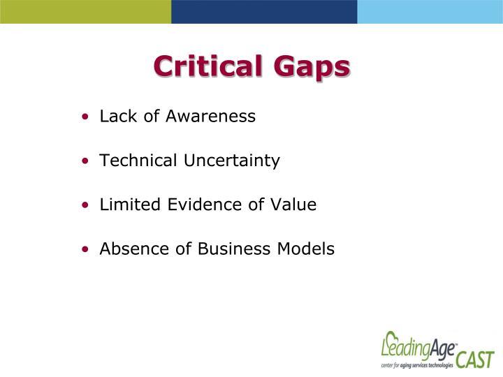 Critical Gaps
