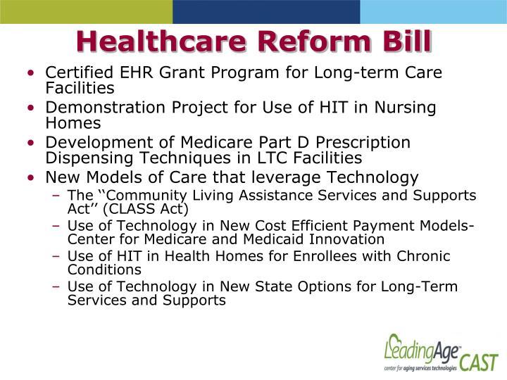 Healthcare Reform Bill