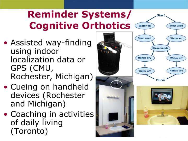 Reminder Systems/ Cognitive Orthotics