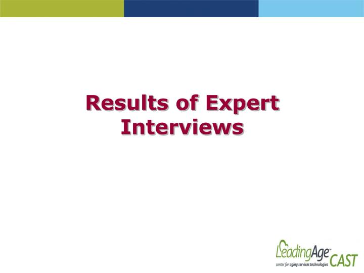 Results of Expert Interviews