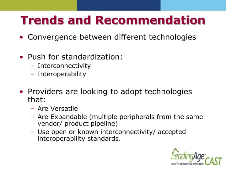 Trends and Recommendation