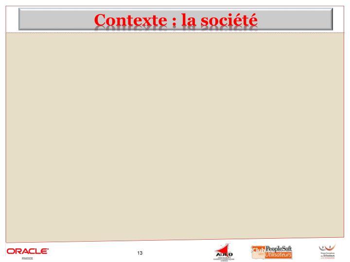 Contexte : la société