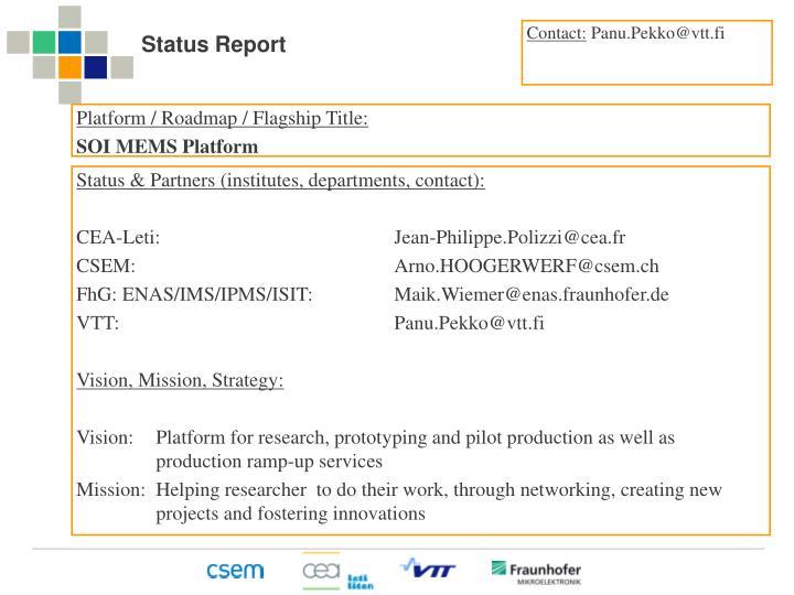 Status report1