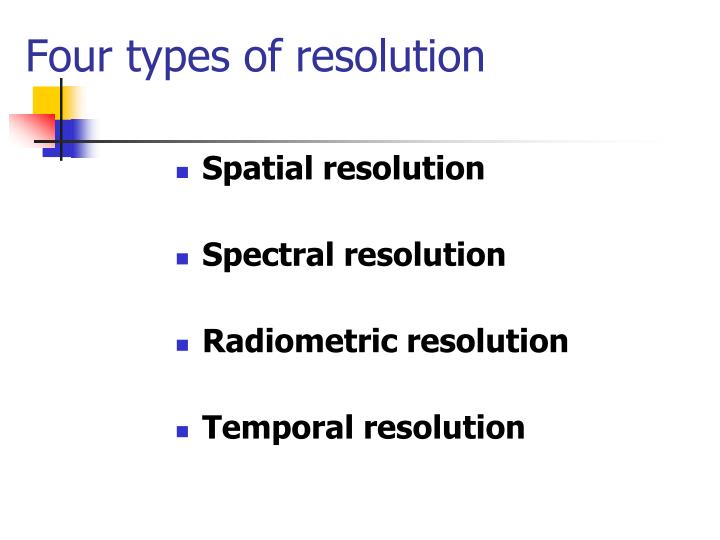Four types of resolution