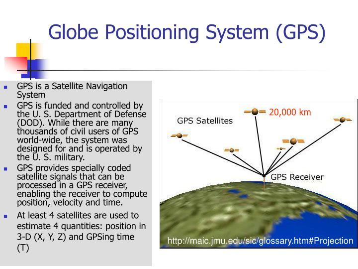 Globe positioning system gps