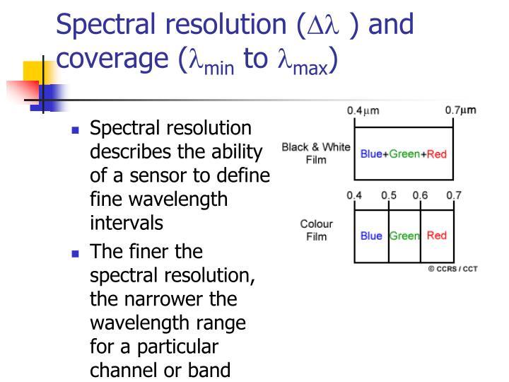 Spectral resolution (