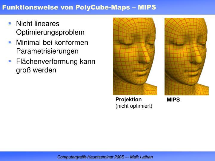 Funktionsweise von PolyCube-Maps – MIPS