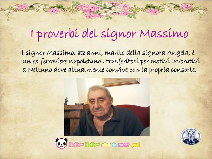 I proverbi del signor Massimo